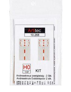 Andreaskruisen dubbel H0 (kit)