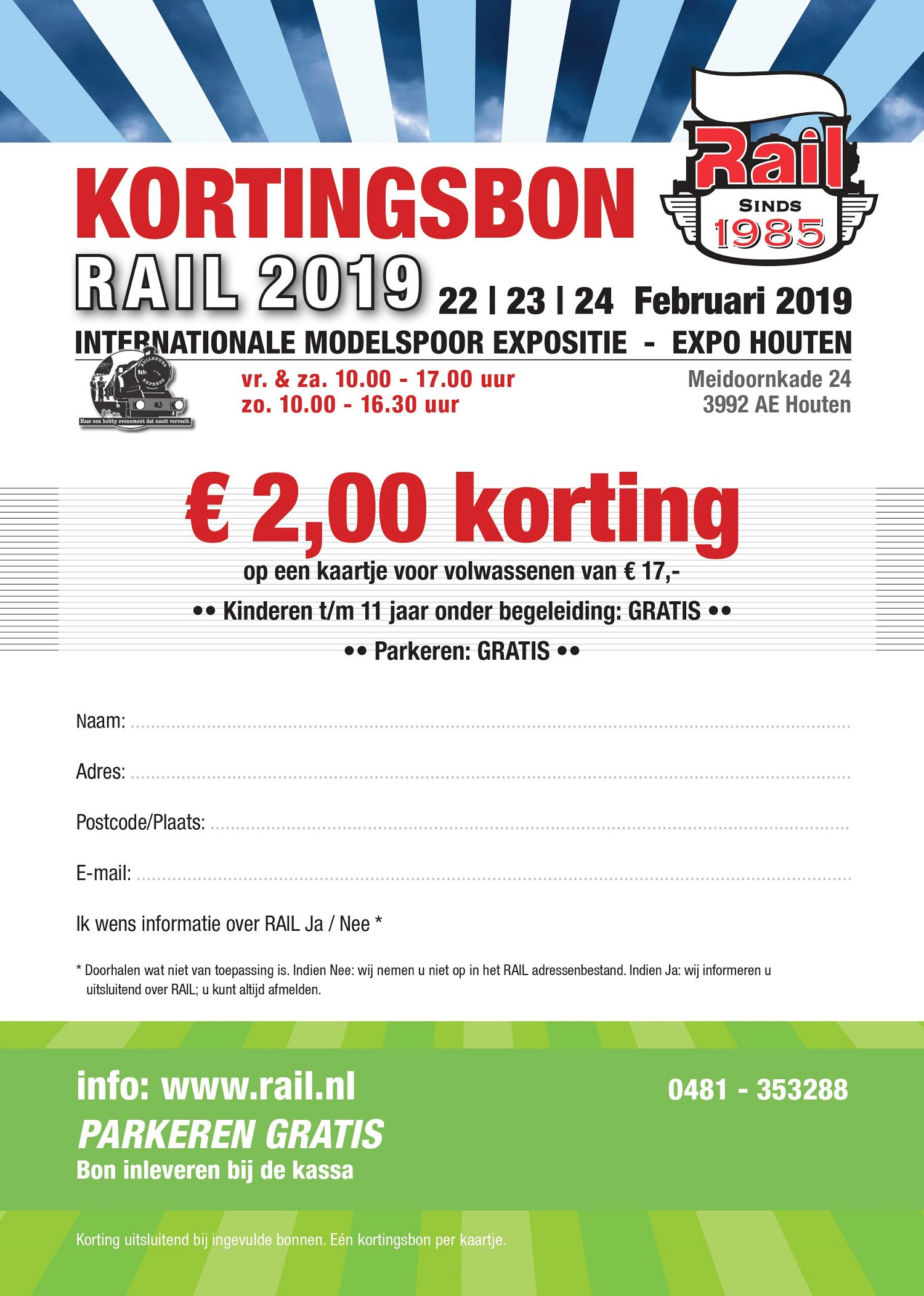 Kortingsbon Rail 2019